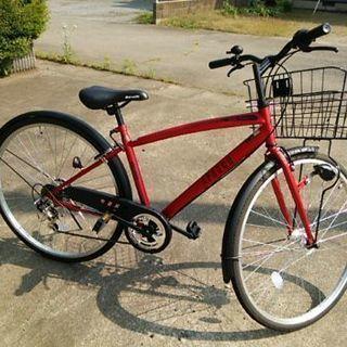自転車 丸石サイクル 27インチ 6段切換  新品!