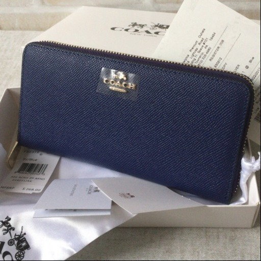 59a868e0a5d2 ミッドナイトブルー 新品未使用 コーチ 長財布 (うっしっしー☆) 淵野辺 ...