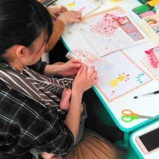 【大阪阿倍野区】ヨガ教室で手形アートイベント