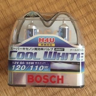 【新品未使用】 BOSCH ハロゲンバルブ H4U クールホワイト