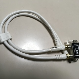 アンテナ分波器 同軸ケーブル付き 中古美品