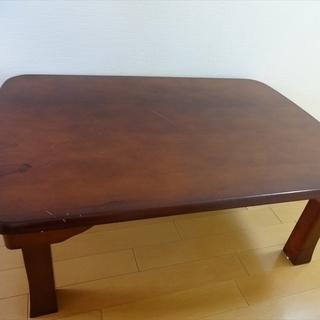 折り畳み ローテーブル 座卓 ちゃぶ台 木製