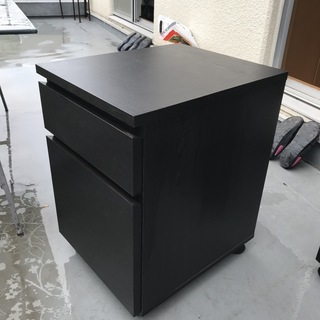 IKEA製JONAS 引き出しユニットキャスター付き/ブラック3台