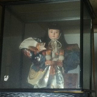 200円 五月人形 弁慶 ケース付き