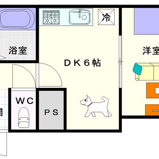 【リビエール増井】7号タイプ!1DKタイプ!小型犬or猫が1匹飼育...