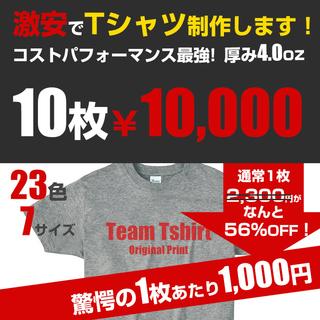 激安10枚セット1枚あたり1,000円 オリジナル Tシャツ オ...