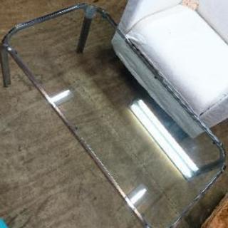 中古 ガラストップテーブル/ センターテーブル