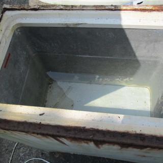 水槽に 災害非常時の水がめに