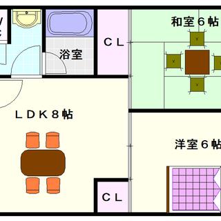 【メゾンマヴィー】5号タイプ!2LDKタイプ!使いやすい間取で同...