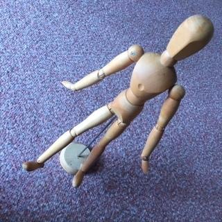【ネット決済・配送可】デッサン 人形 ハンド モデル ☆ 木製 人形
