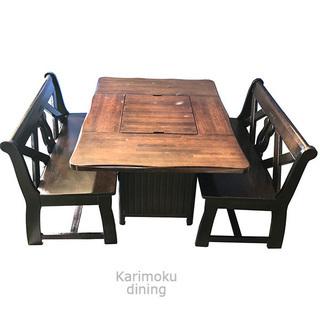 karimoku ダイニングセット ベンチソファ テーブル 木製 ...