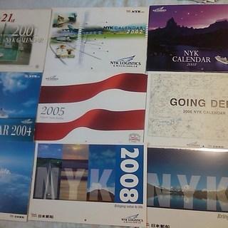 世界の風景★日本郵船カレンダー2001~2009★日本の海運DVD...