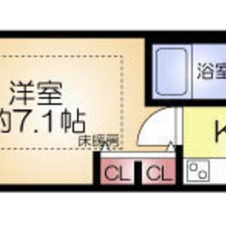 中崎町駅4分 家賃32000円 共益費8000円 25.05㎡
