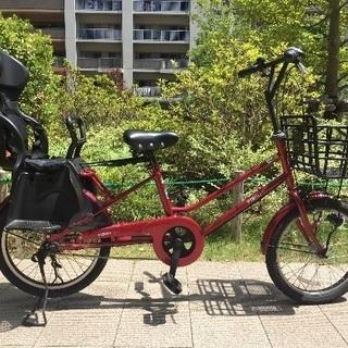 子供乗せ自転車レインカバー付き 3段ギア