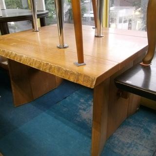 札幌市 カリモク 天然木テーブル ダイニング 食卓 イスなし ロ...