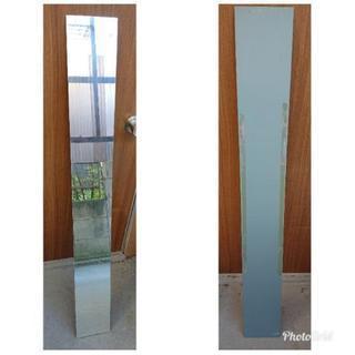 下駄箱の扉に貼りつけて使用していた鏡