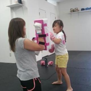 十条で親子で楽しくキックボクシング♪