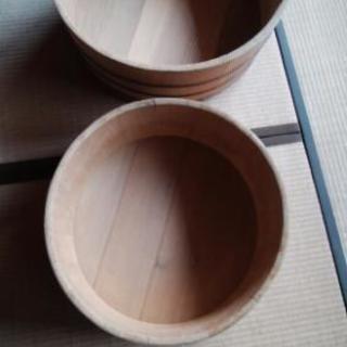 木製大型桶、2個