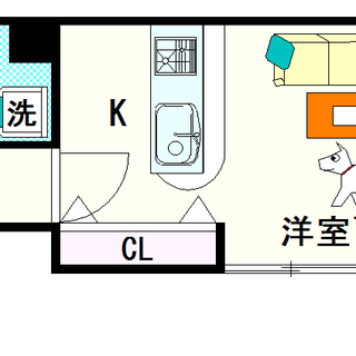 【グランパシフィック難波元町】C号タイプ!1Kタイプ!建物名に「...
