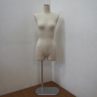 女性型 トルソー 腕無し 布張地 マネキン ボディ 女性用…