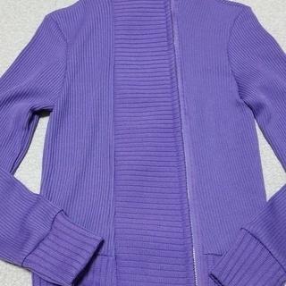 レディース ジップジャケット 紫 Mサイズ