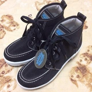 未使用■genjyumin■24.5cm■黒■靴 スニーカー■H...