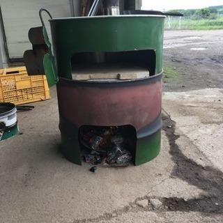 ドラム缶でピザ窯加工