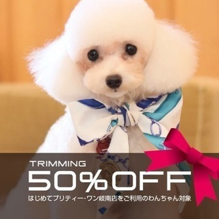 【岐南・各務原】初回トリミング50%OFF