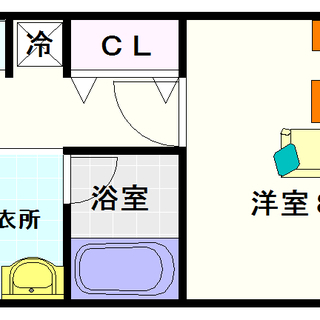 【クリスタルコートNAMBA】4号タイプ!1Kタイプ!難波に住むっ...