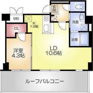 堺筋本町5分 家賃75,000円 共益費5,000円 40.11㎡