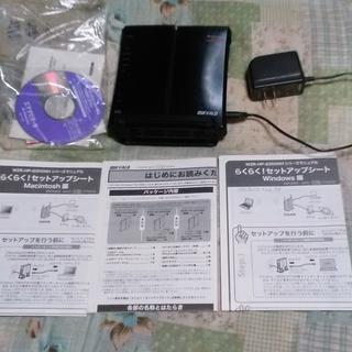 無線ルーター(バッファロー WZR-HP-G300NH)無線中継も...