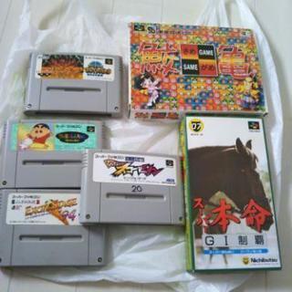 スーパーファミコンソフト6本、一部箱説明書、一部美品 鮫亀 グレイ...