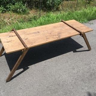 キャンプ用 木製ローテーブル