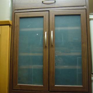 ガラス戸収納棚 食器棚 キャビネット 1~2人用