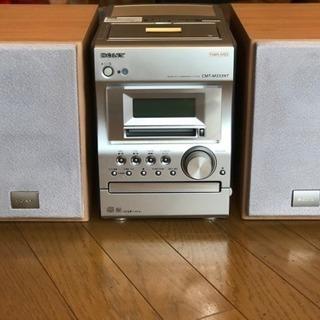 ソニーCD、MD、カセットテーププレイヤースピーカーセット