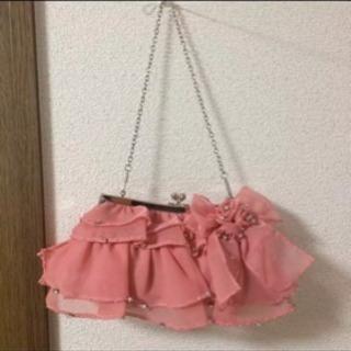 結婚式 バッグ パーティーバッグ ピンク ふりふり