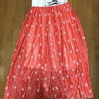 ロング シフォンスカート