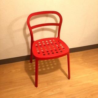 美品! イケア チェア 椅子 レッド