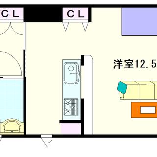 【アーバンカーサ難波Ⅱ】1号タイプ!1Rタイプ!ワンフロア2戸の...