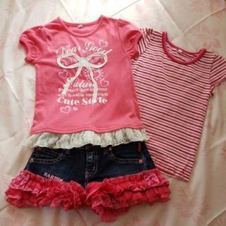 110cm女の子Tシャツ2枚セット