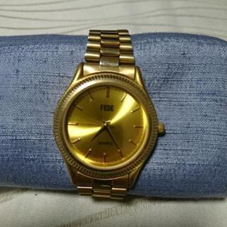 FEDE  ゴールドタイプメンズアナログ腕時計