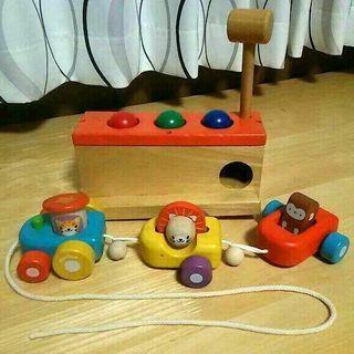 【終了】値下げしました!木製おもちゃ2個セット☆ ニチガン とん...