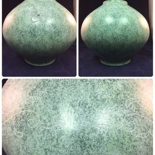 新品 未使用 青銅 花器 花瓶 生け花 峰雲作 サイズ高さ約22...