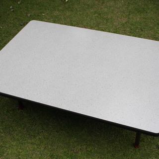 天板 75×105 グレー石目柄 メラミン 未使用品 軽量 使用...
