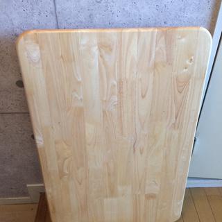 木目調の折り畳みローテーブル