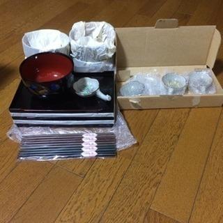 新品 大汁椀セット 盆付き 桂由美