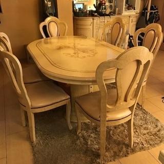 イタリア製ダイニングテーブルセット