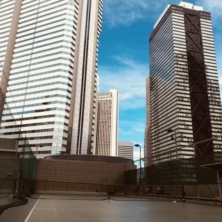 新宿ヒルトンでテニスレッスン!
