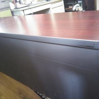 KOKUYO 会議用高級足折たたみテーブル(コンフェストパネル&棚付き)