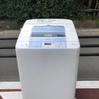 送料無料! 動作保証付き 全自動洗濯機 日立 BW-7JV 7㎏ ビートウォッシュ ダブルビートウィング!汚れを芯からひきはがす 濃縮洗剤液  ホワイト 白の画像